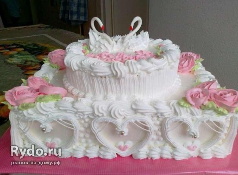 Свадебные торты из крема фото и сборка