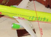 Модель самолета airbus A320 S7 airlines 1: 50