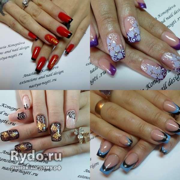 Дизайн ногтей средняя длина