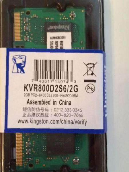 Kingston ddr2 800mhz 2gb, бу