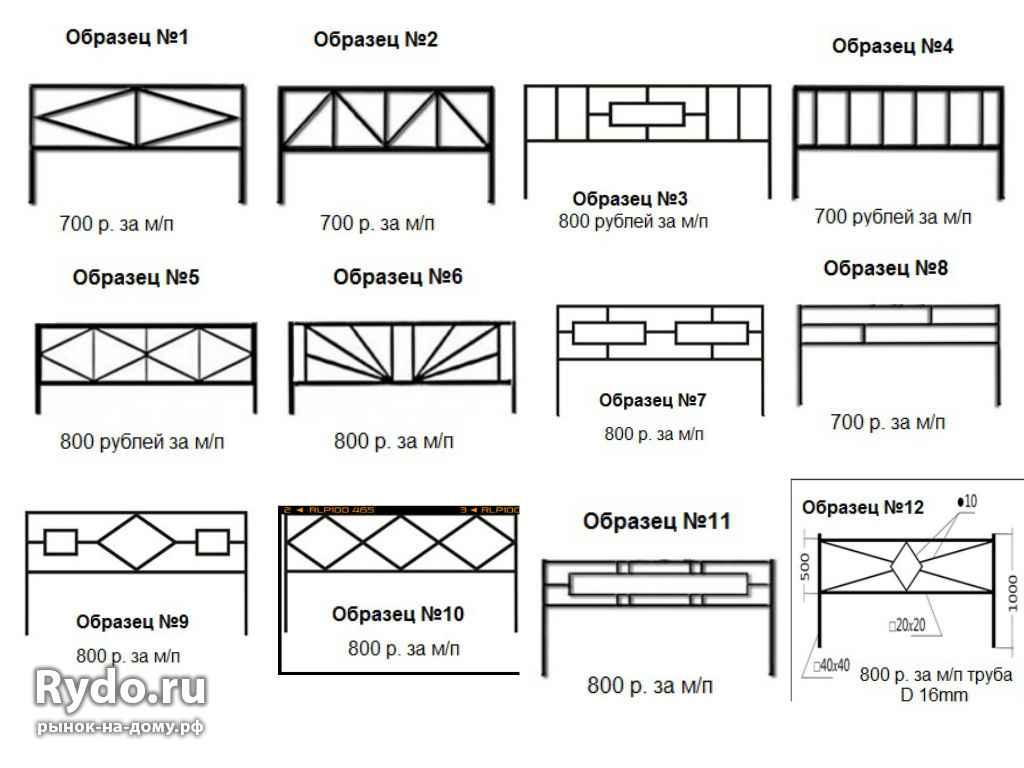 Оградки своими руками из металлопрофиля чертежи и фото 21