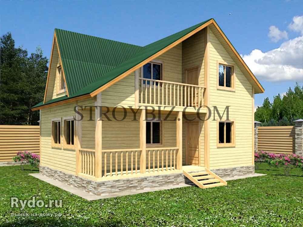 Дачный дом 6х8 с балконом и террасой, проекты и цены - русск.