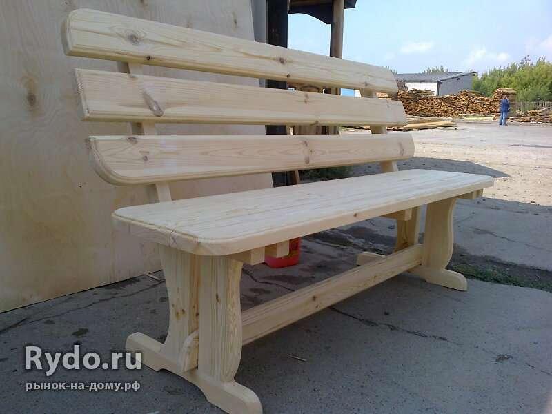 Как сделать своими руками скамейку со спинкой