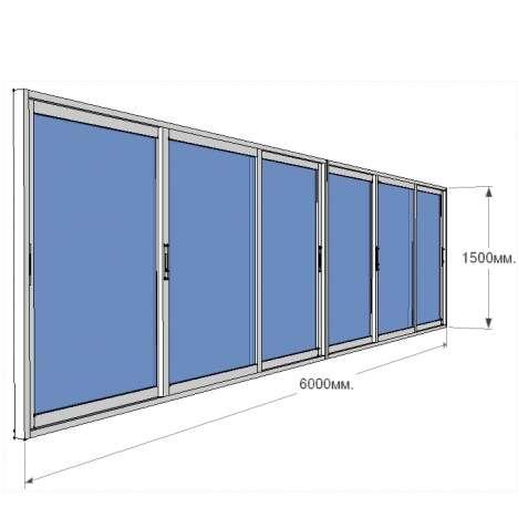 Установка лоджии 6 метров - цена 23300 рублей - окна в рыби.