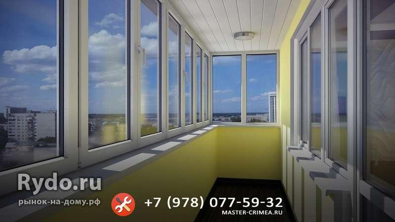 Остекление балконов и лоджий любой сложности в симферополе, .
