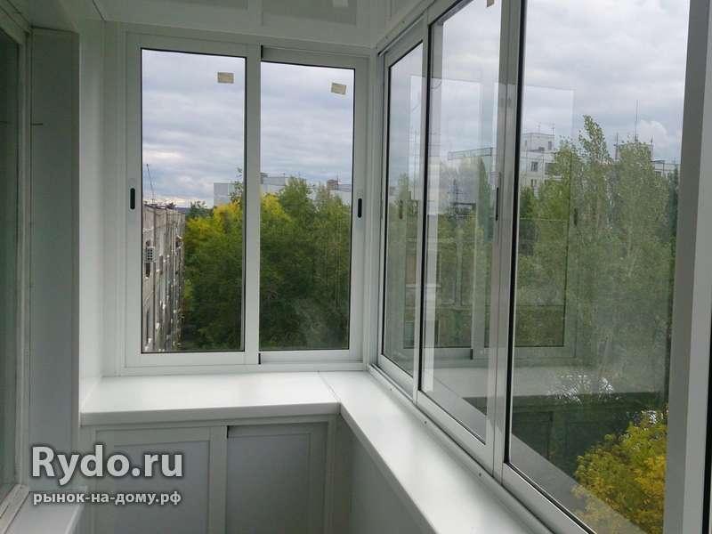 Остекление балконов и лоджий - цена 10000 рублей - окна в Ч.