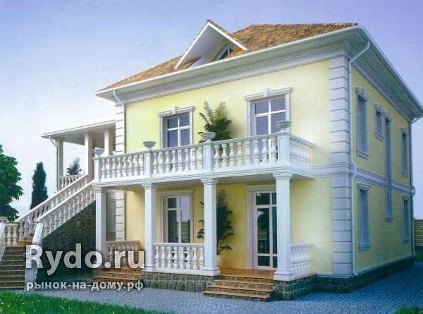 Покраска фасада дома по кирпичу