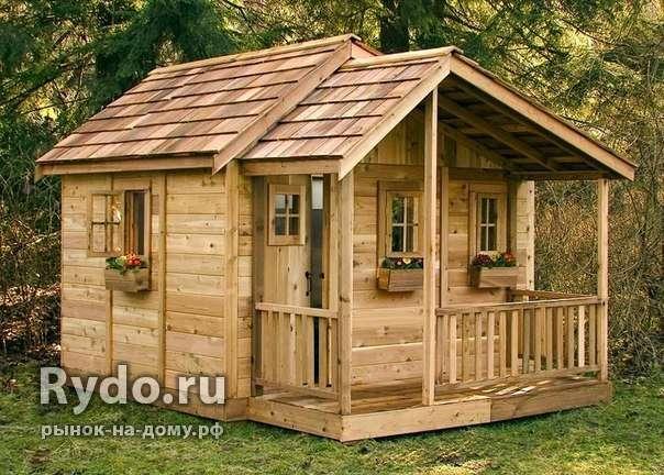 Деревянный домик из досок для ребенка своими руками