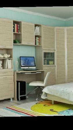 Новый детский стол с антресолью, бу - цена 6600 рублей - оф.
