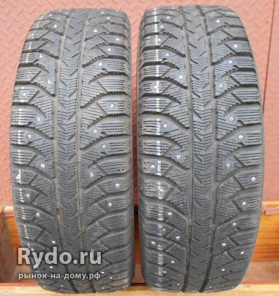 Шины б/у зима Bridgestone Ice Cruiser7000 195/65 R-15, 2 шт., шипы