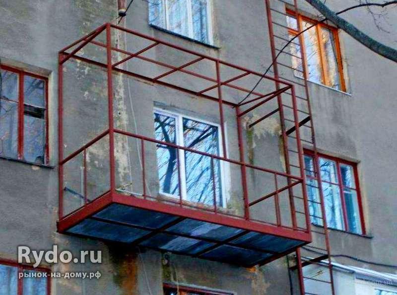 Строительство балконов, лоджий на 1-ых этажах в нижнего таги.
