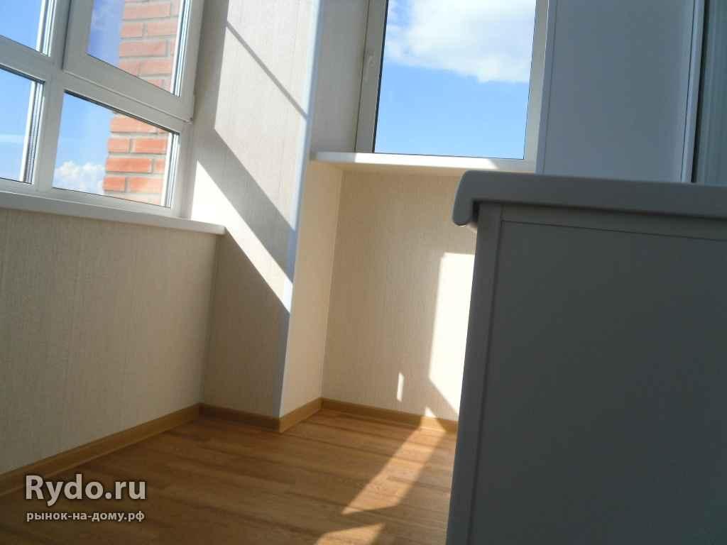 Услуги: остекление балконов и лоджий, отделка, утепление, дв.