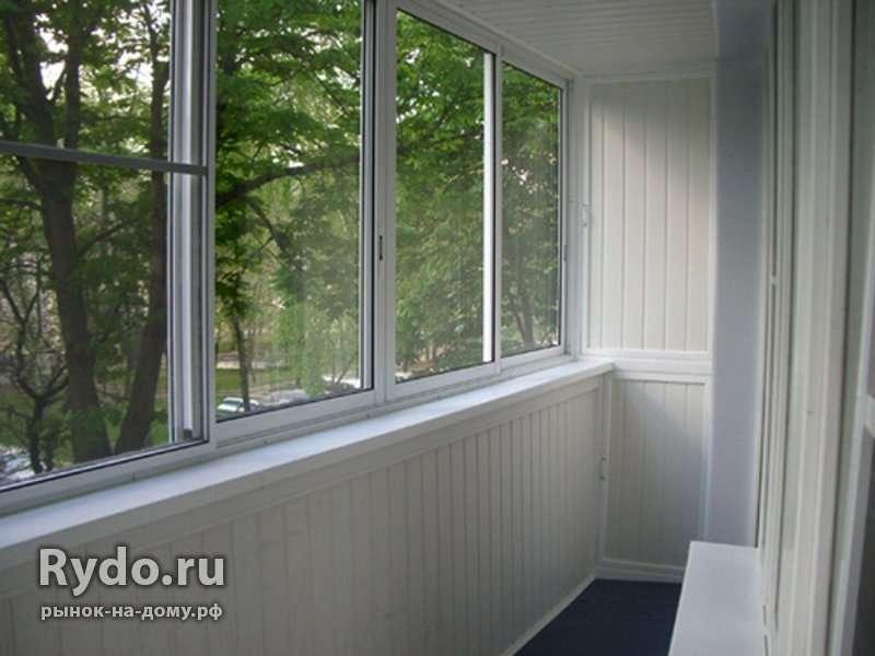 Остекление балконов лоджий веранд офисных перегородок в ново.
