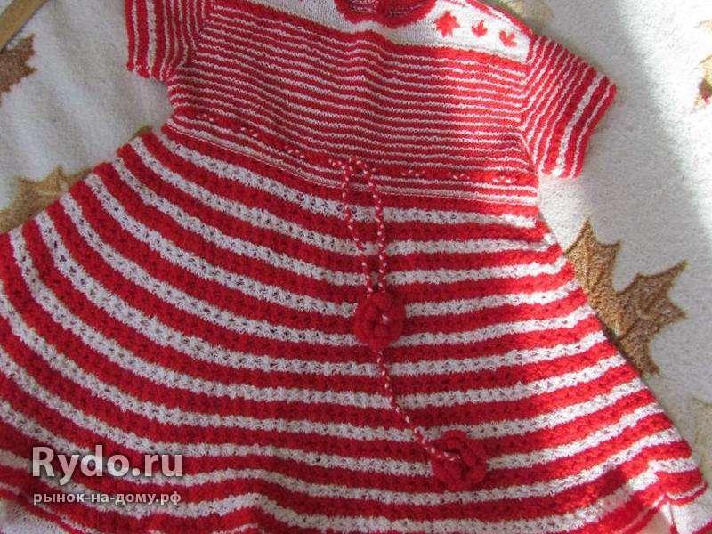 Ручное вязание детских платьев