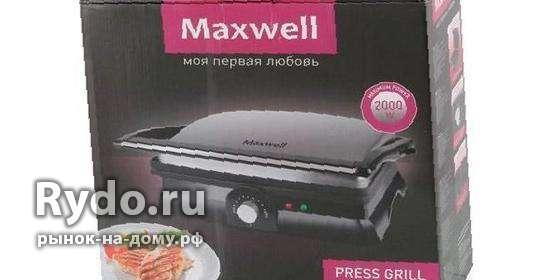 Гриль-пресс maxwell MW-1960 ST — Цена 2 420 рублей — Мелкая кухонная ... a91f220724217