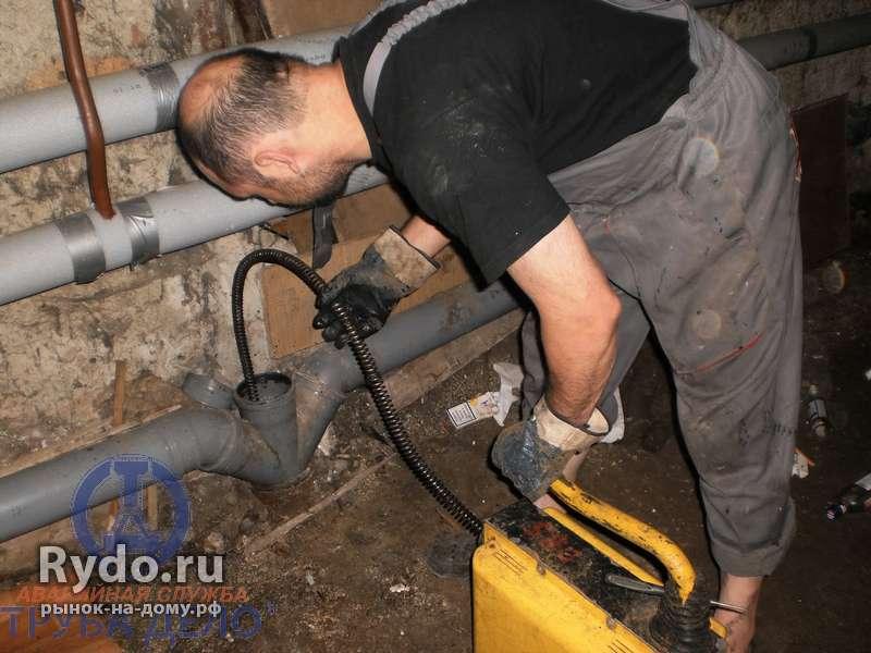 Прочистка трубопроводов перед восстановлением
