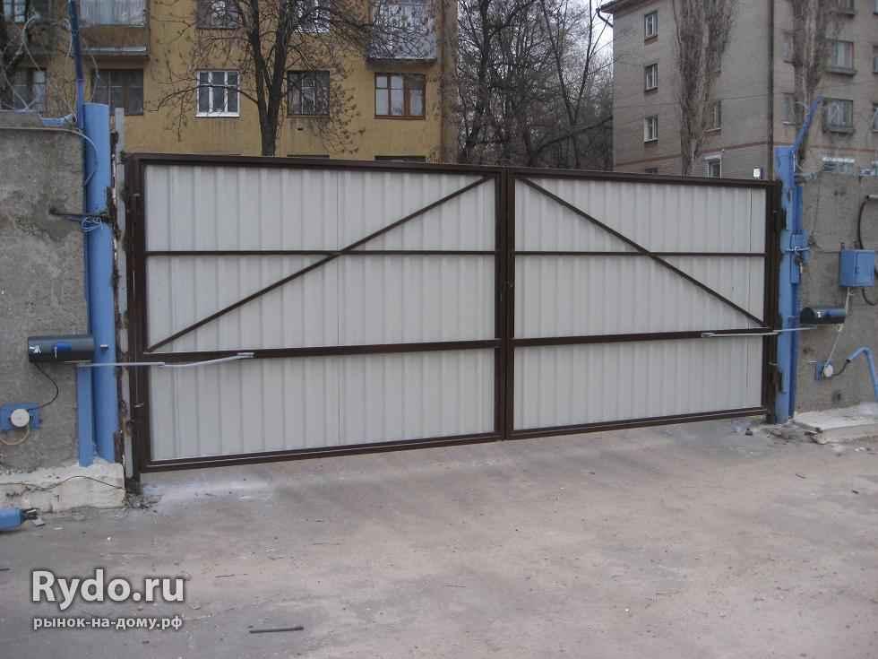Гаражные ворота своими руками с профтрубы