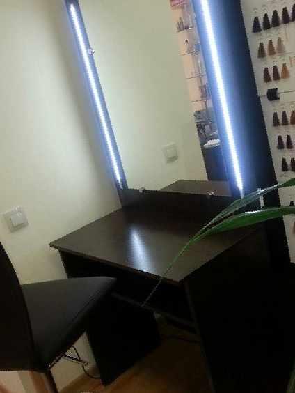 туалетный столик с зеркалом и подсветкой цена 8 800 рублей столы