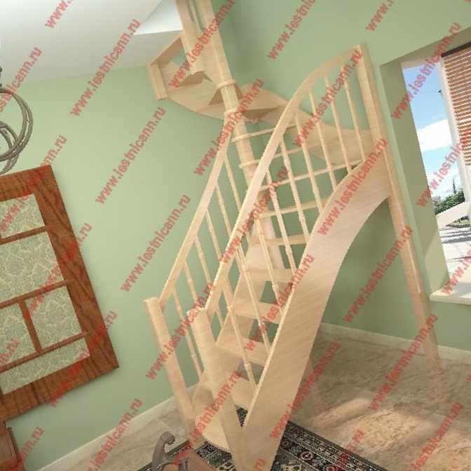 сборка лестницы восток элегант