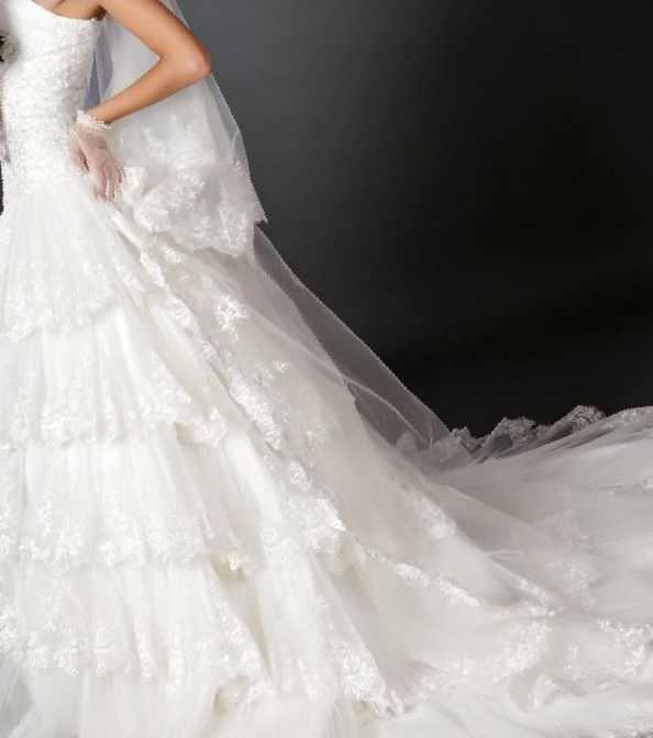 f176f54ecf17e13 Свадебное платье со шлейфом для высокой невесты, б/у — Цена 15 000 ...